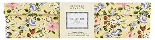 CRABTREE & EVELYN Summer Hill Drawer Liners 12 in x 22.5 in by Crabtree & Evelyn