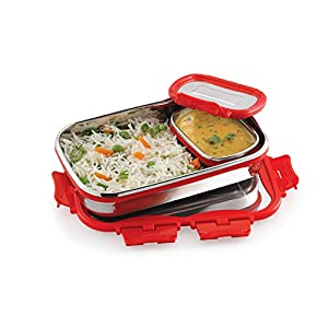 Cello Stainless Steel Lunch Box Leak Proof For Office & School