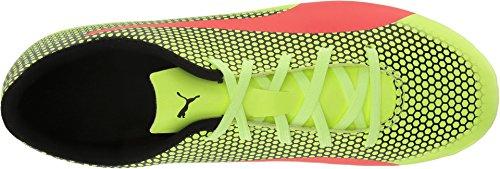 PUMA Unisex-Kids Spirit FG Soccer-Shoes, Fizzy Yellow-Red Blast Black, 3.5 M US Big Kid by PUMA (Image #1)