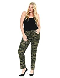 Sweet Look Women's Jeans - Plus Size - High Waist - Push Up - Style CS009
