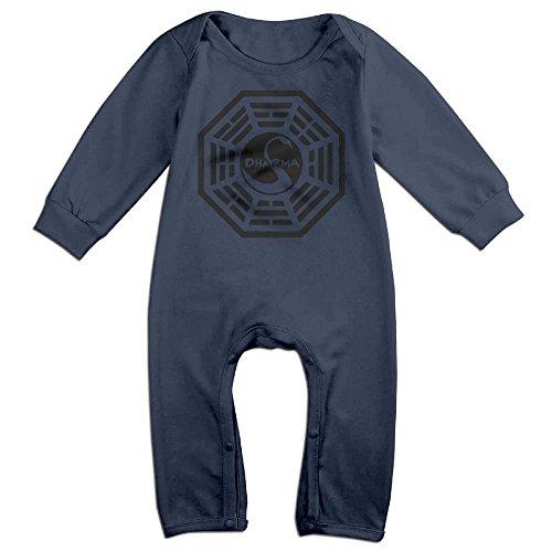 JOYJUN Dharma Swan Cute Newborn Baby Print Jumpsuit Playsuit - Zipper Dharma Von