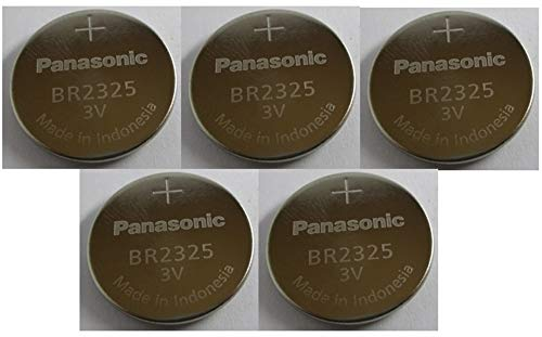 - 5 X Br2325 Panasonic 3 Volt Lithium Coin Cell Battery (Cr2325)
