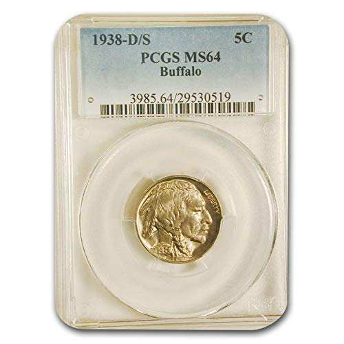 1938 D S Buffalo Nickel MS-64 PCGS Nickel MS-64 PCGS