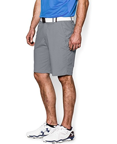 Under Armour Men's Match Play Shorts, Steel/True Gray Heathe