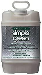 Simple Green 19005 Crystal Industrial Cleaner and Degreaser, 5 gallon Pail