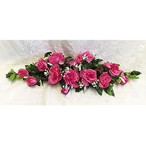 Rose Swags MANY COLORS Silk Wedding Flowers Chuppah Arch Gazebo Centerpiece 2