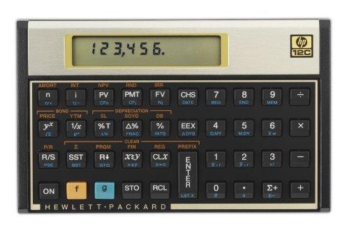- Hewlett-Packard 12C 12c Financial Calculator 10-Digit LCD