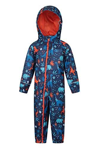 Mountain Warehouse Puddle Kids Printed Rainsuit - Kids Rain Suit Orange 36-48 Months