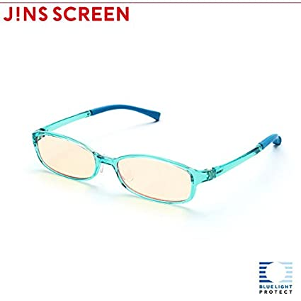 c5110895ce0 Image Unavailable. Image not available for. Color  JINS PC Glasses Computer  Eyewear Light Blue (Light Brown Lenses
