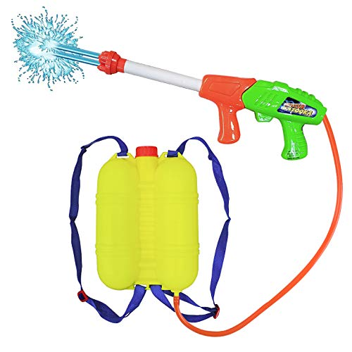 Water Gun With Backpack (Liberty Imports Super Water Gun with Backpack Tank - Pump Soaker Blaster 2000 High Capacity Long Range Summer Outdoor Toys for)
