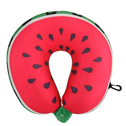 Watermelon Sleeping Bag (Mmrm Soft U Shaped Microbead Massage Cervical Support Travel Head Neck Pillow for Sleeping)