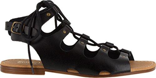 Bella Vita Kvinners Oriana Ghillie Gladiator Sandal Sort Skinn