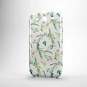 Decorative Samsung S3 3D wrap around Case - Green and White