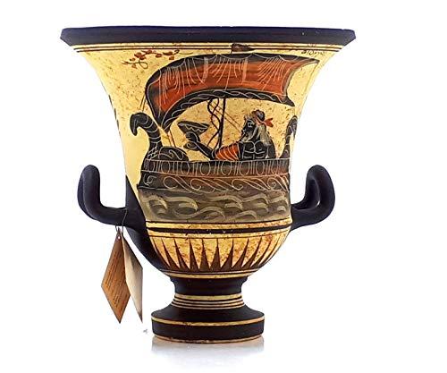 greekartshop Ancient Greek Vase Krater Pottery Goddess Aphrodite & God Dionysus -