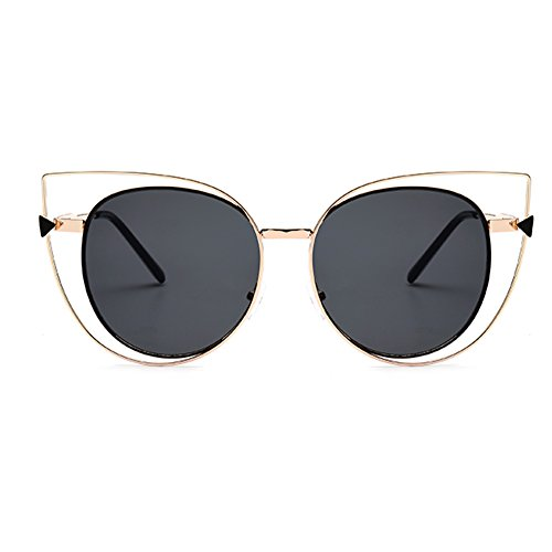LOMEDO Womens Fashion Cat Eye Sunglasses Metal Frame - 2016 New Eyeglass Trends
