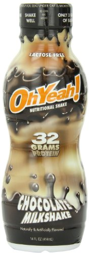 ISS OhYeah! Chocolate Milkshake, Nutritional Shake, 14 Ounce (12 Bottles) (Muscle Building Milkshake)