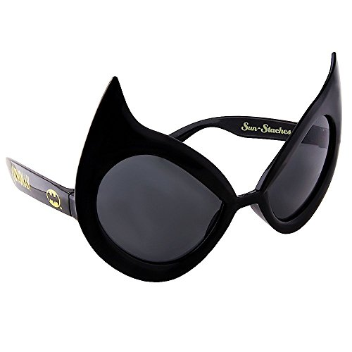 Sunstaches DC Comics Cat Woman Sunglasses, Party Favors, UV400]()