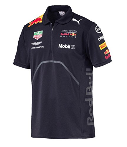 Red Bull Formula 1 Aston Martin 2018 Team Blue Team Polo Shirt (Large) - Team Red Bull Racing