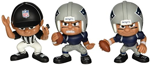 Lil' Teammates 3 Figurine New England Patriots NFL Team Set (Pack of 3)