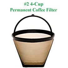 4-Cup Cone Shape Permanent Coffee Filter fits Mr. Coffee 4 Cup Coffeemakers