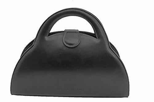 Women's Luxury Leather Handbag in Black by Steven Harkin