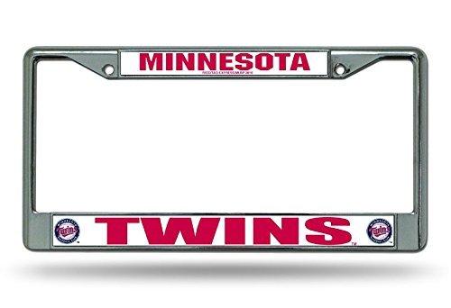 B.Fighting Minnesota Twins MLB Chrome License Plate Frame