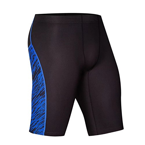 MZjJPN Men Running Compression Tights Short Sports Joggers short Leggings a blue XXXL (Cw Running Tights)