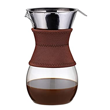 Osaka Pour-Over Drip Brewer, 6 Cup (27 oz) Glass Carafe with Permanent Stainless Steel Filter  Itsukushima