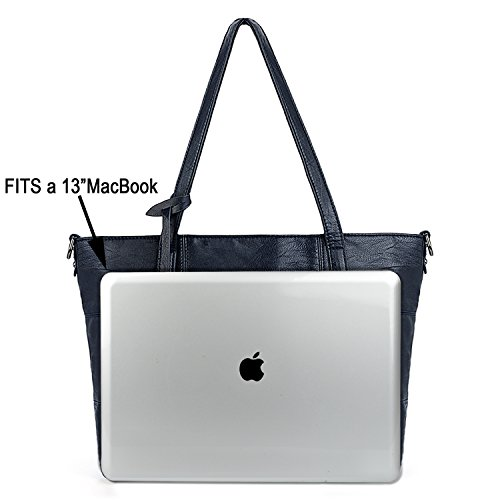 Bags Purse Women Pcs Uto Leather Blue Bags Purple Bags Shoulder Pu 2 Set Handbag Washed fwqP0