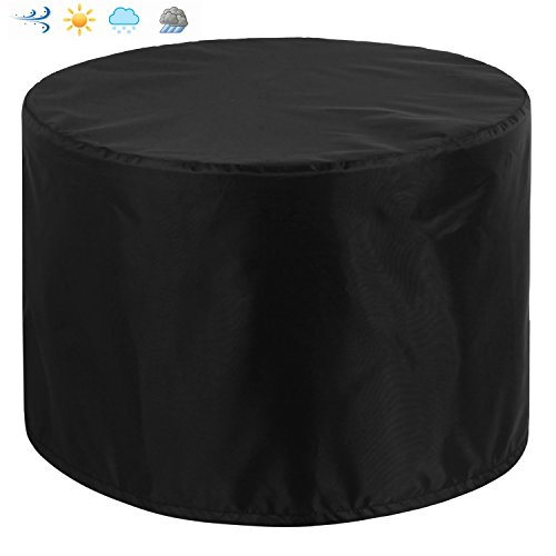 Patio Round Table and Chair Set Outdoor Cover, Water-Resistant, Outdoor All Weather Protection, Black Color (70