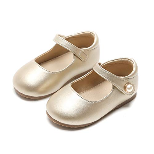 Otter MOMO Toddler/Little Girls Mary Jane Ballerina Flats Shoes Slip-on School Party Dress Shoes