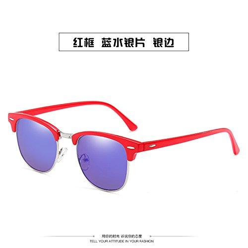 De De De La Hembra Sol Gafas Gafas B UV Gafas Anti Xue zhenghao Personalidad Luz Sol Polarizada Moda Azul Azul wXq6t7n