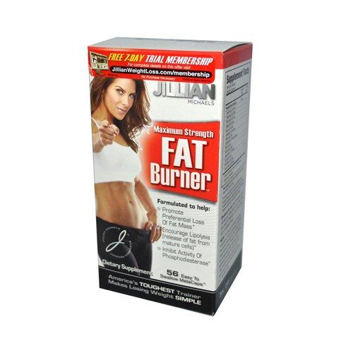 Maximum Strength Fat (2 Packs of Jillian Michaels Weight Loss Maximum Strength Fat Burner - 56 Caps)
