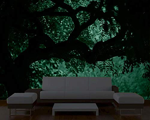 Startonight Mural Wall Art Photo Decor Tree on the Green Landscape Large 8-feet 4-inch By 12-feet Wall Mural for Living Room or Bedroom by Mural Wall Art (Image #1)
