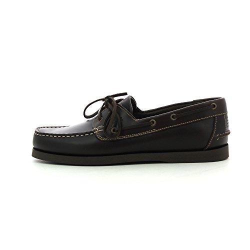TBS PHENIS-zapatos mocassin barco marrón de ébano