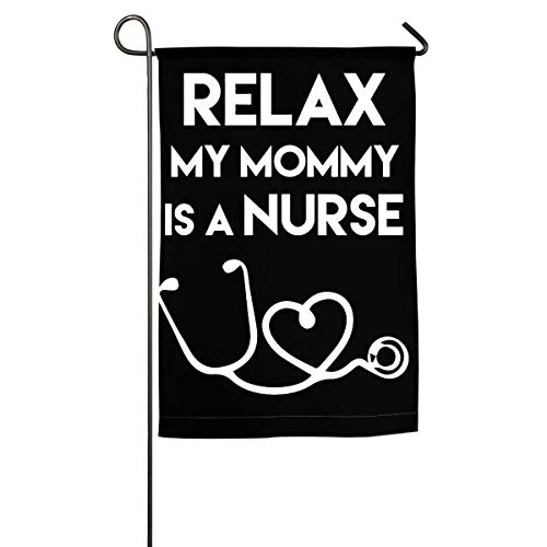 WINDST Personalized My Mommy is A Nurse Logo Garden Flag 12x18 Inch for Patio,Home,Yard,Outdoor Decorative