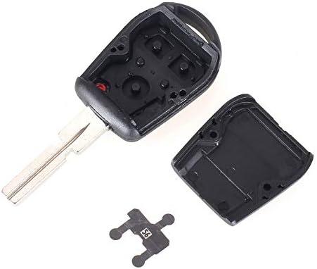 2 Buttons HU58 Uncut Remote Key Shell Case Cover for BMW E31 E32 E34 E36 E38