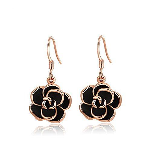 Earings Women Fashion Earrings Women Jewelry Drop The Oil Earrings Body Jewelry Flower Pendant Gift Rose Gold - Tiffany And Buy To Where Co