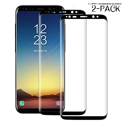 JookAir Samsung Galaxy S8 Plus [2 Pack] Screen Protector 3D Curved Tempered  [Anti-Bubble][9H Hardness][HD Clear][Anti-Scratch][Case Friendly] Glass
