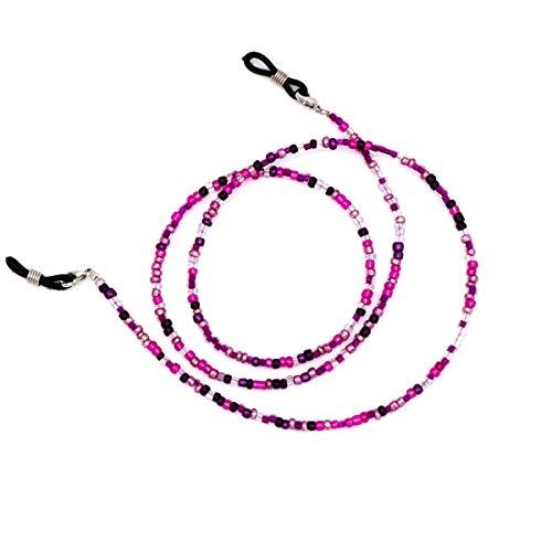 Beaded Eyeglass Chain Sunglasses Holder Strap Eyewear Retainer Lanyard (Purple&Hot ()