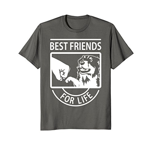 Mens Australian Shepherd - Best Friend For Life T-shirt Large Asphalt