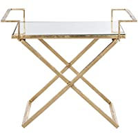Safavieh Home Collection Poerre Gold Leaf Accent Table
