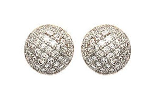 Les Plaisirs de Stella Women's Earrings Gold-Plated & Zirconium Oxide, Round, Shiny Shape Diamant