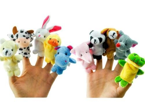 Jester Costume Diy (10Pcs Family Finger Puppets Cloth Doll Baby Educational Hand Cartoon Animal Toy)