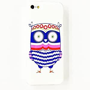 Colorful Owl Navy Strip Pattern Polycarbonate Hard Case for iPhone 5/5S , Multicolor
