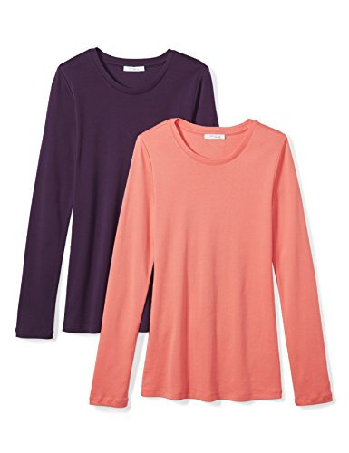 Daily Ritual Women's Midweight 100% Supima Cotton Rib Knit Long-Sleeve Crew Neck...