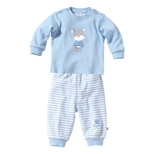BORNINO Schlafanzug 2-tlg. Baby-Pyjama Baby-Nachtwäsche, Größe 86/92, hellblau