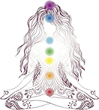 Relaxed Yoga Girl Silhouette with Mantra Vinyl Decal Sticker Divine Designs Company 4 Tall