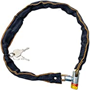 SYCOOVEN Bike Chain Lock, 80cm Security Anti-Theft Bike Lock Chain with Keys for Bike, Motorcycle, Bicycle, Do