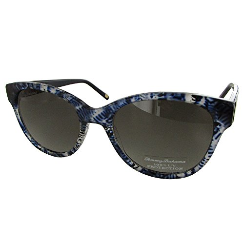 Tommy Bahama TB7047 Colada Efficionada Sunglasses 414 Navy/Black Frame Grey - Tommy Sunglasses Polarized Bahama Women's